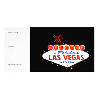 Fabulous Las Vegas - at night Customised Photo Card