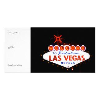Fabulous Las Vegas - at night Customized Photo Card