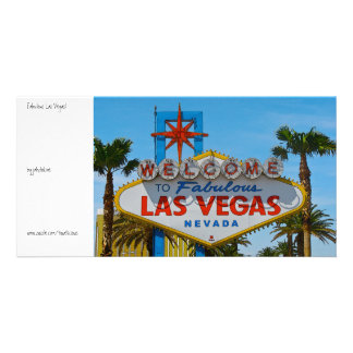 Fabulous Las Vegas - sans wires Photo Greeting Card