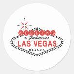 Fabulous Las Vegas Wedding Template Customisable Round Sticker