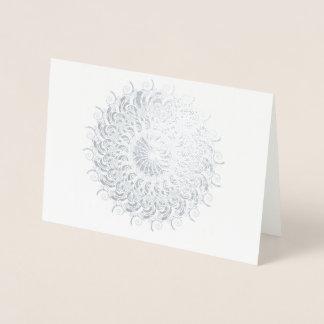 Fabulous nautilus as a circle foil card