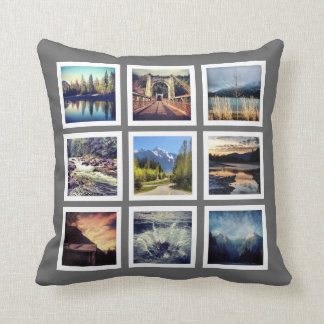 Fabulous Photography 18 Pics Instagram Grid Cushion