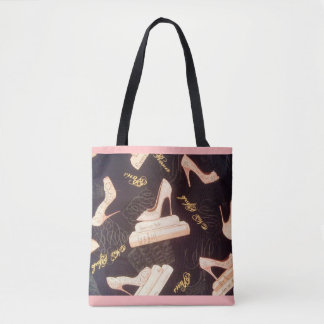 """Fabulous Pink Shoes"" All-Over-Print Tote Bag"