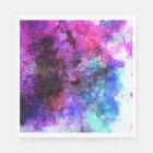 Fabulous Purple Watercolor Abstract Disposable Serviette