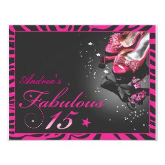 Fabulous Quinceañera! 11 Cm X 14 Cm Invitation Card