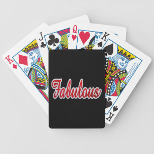 Fabulous - Red & Silver Glitter Bicycle Playing Cards