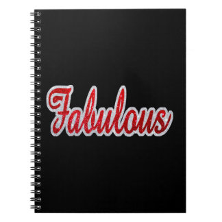 Fabulous - Red & Silver Glitter Notebook