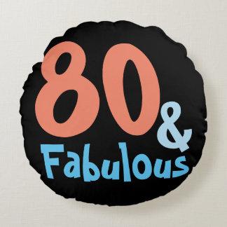 Fabulous Retro Birthday Round Cushion