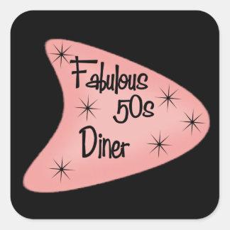 Fabulous retro Fifties Diner sticker