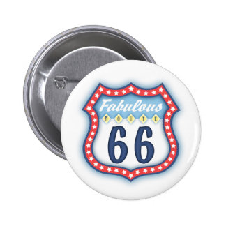 Fabulous Route Sign 6 Cm Round Badge