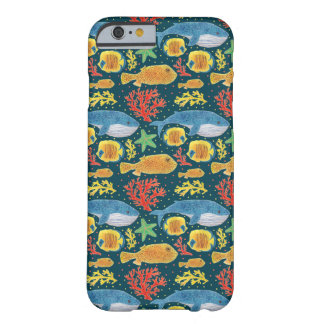 Fabulous Sea Animals Print Barely There iPhone 6 Case
