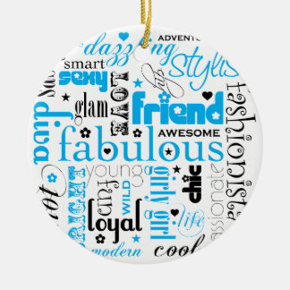 Fabulous Synonym BFF Ornament
