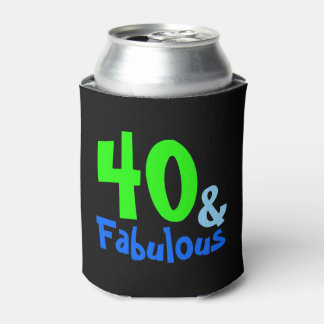 Fabulous Tropical Birthday Can Cooler
