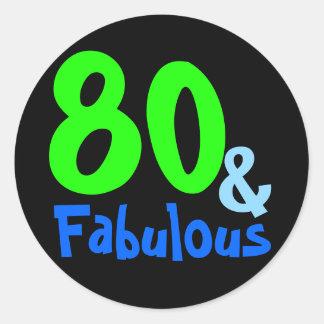 Fabulous Tropical Birthday Classic Round Sticker
