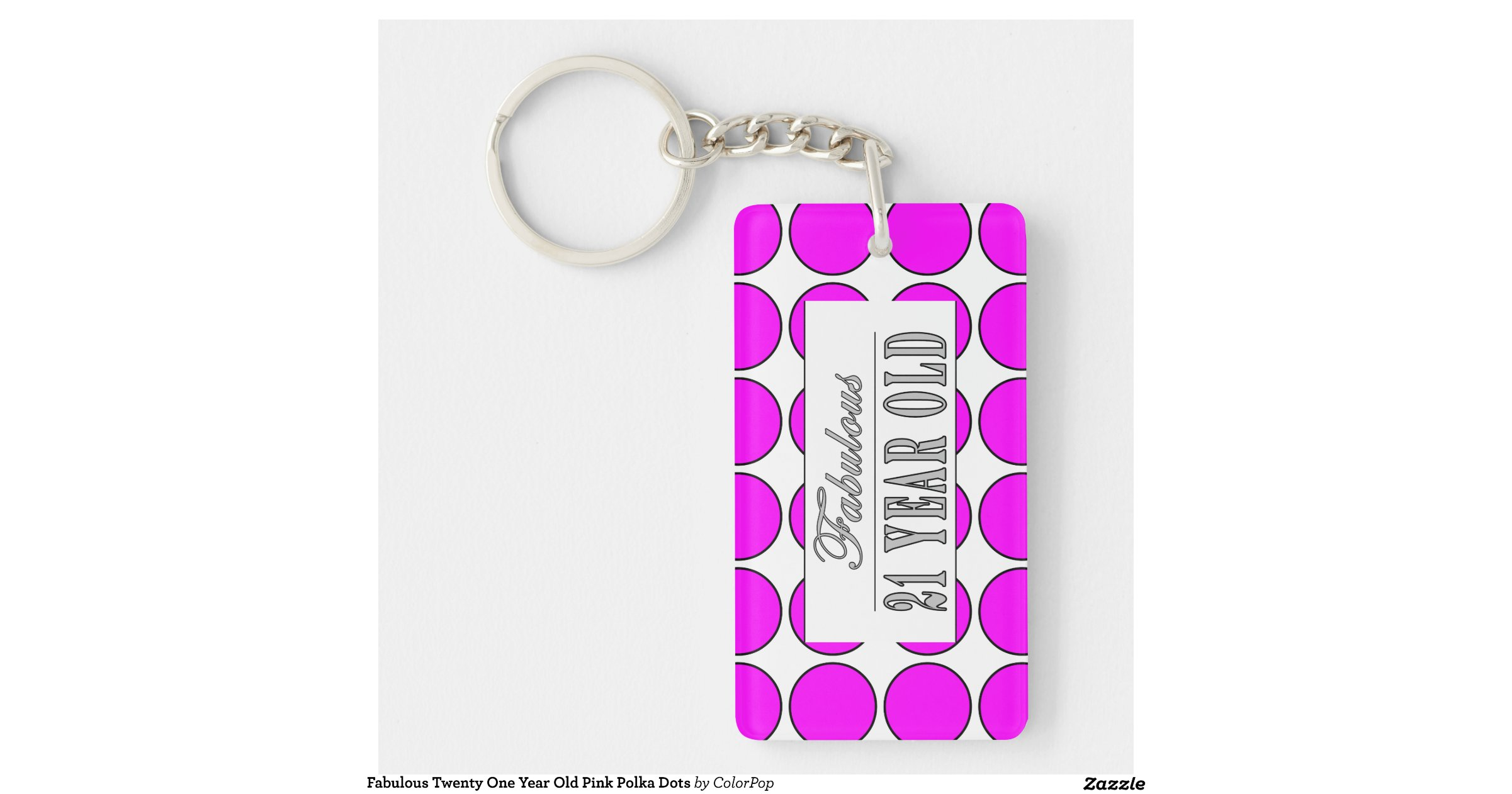 Fabulous Twenty One Year Old Pink Polka Dots Single-Sided