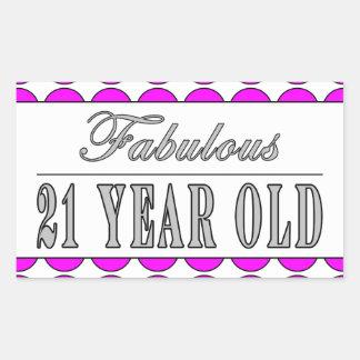Fabulous Twenty One Year Old Pink Polka Dots Stickers