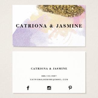 ★ Fabulous Watercolour Business Card