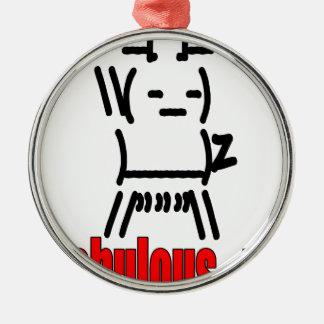 fabulousme iamfabulous old emoticon elvispresley l metal ornament