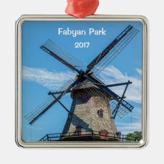 Fabyan Park Dutch Windmill Metal Ornament