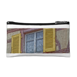 facade Alsatian houses of different colors Cosmetic Bags