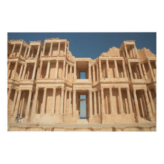 Facade And Stage Of Roman Amphitheater Wood Canvases