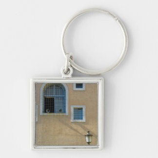 Facade of building in Rome Italy Key Chain