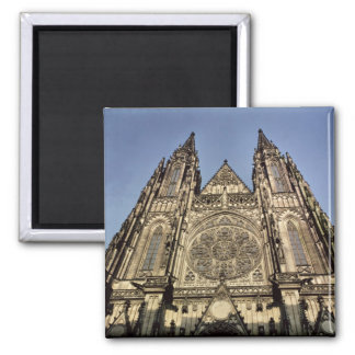 Facade of the Cathedral of St. Vitus Square Magnet