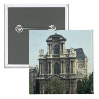 Facade of the Church of Saint-Gervais Pins