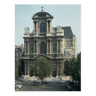 Facade of the Church of Saint-Gervais Postcard