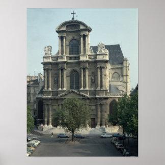 Facade of the Church of Saint-Gervais Poster