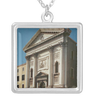 Facade of the Church of Santa Maria della Silver Plated Necklace