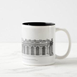 Facade on the Seine of Palais Bourbon Two-Tone Coffee Mug