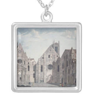 Facades of the Churches Square Pendant Necklace