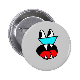 face 6 cm round badge