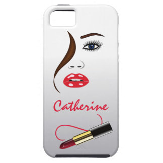 Face and Lipstick in the Mirror iPhone 5 Vibe Case iPhone 5 Case