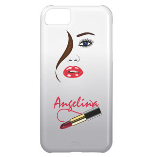 Face and Lipstick in the Mirror iPhone 5C Case Cover For iPhone 5C