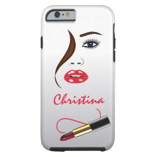 Face and Lipstick Kiss Mirror Tough iPhone 6 6S Tough iPhone 6 Case