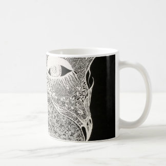 Face behind the lace coffee mug
