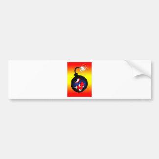 face bomb (hot) bumper sticker