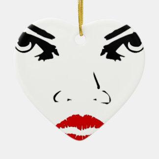 face ceramic heart decoration