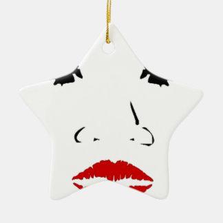 face ceramic star decoration