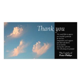 Face Cloud 1 Sympathy Thank You Photo card