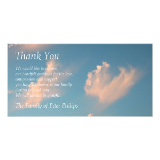 Face Cloud 2 Sympathy Thank You Photo card
