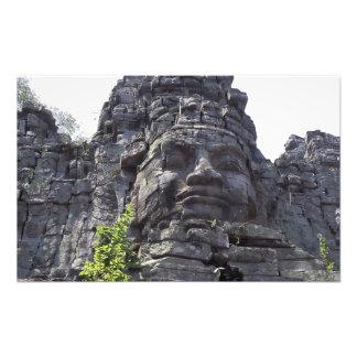 Face detail of the West Gate-Tower Gopuram), Photo Art