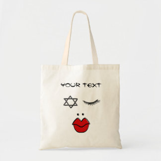 Face doing funny gestures tote bag