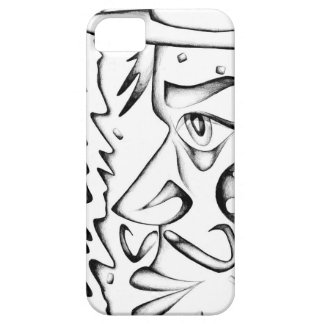 Face drawing sketch art handmade iPhone 5 covers