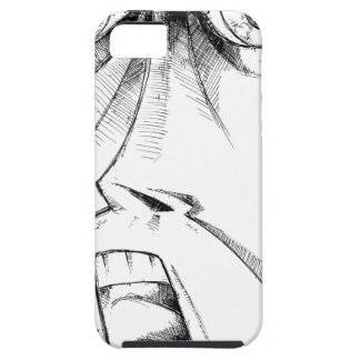 Face drawing sketch art handmade case for the iPhone 5