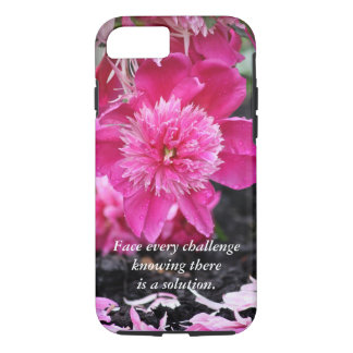 Face every challenge...Peony iPhone 8/7 Case
