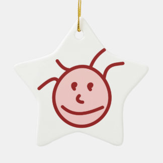 Face face christmas tree ornament