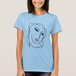 Face In Blue T-Shirt